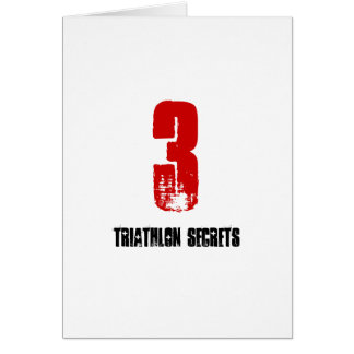 3 Triathlon Secrets - Good Luck Triathlete Card