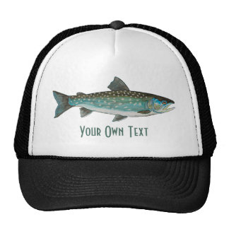 3 Trout Skins: Brook, Rainbow, Brown - Fly Fishing Cap