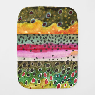 3 Trout Skins for Fishing Ichthyology Fans - Burp Cloth
