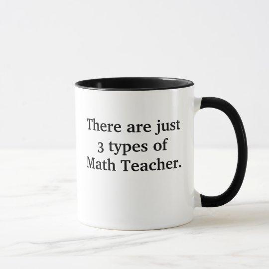 3 Types of Math Teacher Mug Bad Funny