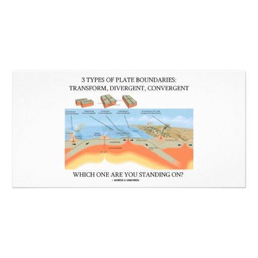 3 Types Of Plate Boundaries - Which Standing On? Personalized Photo Card