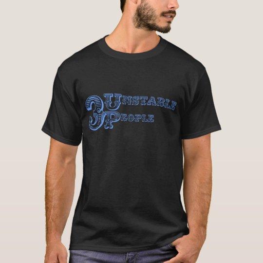 3 Unstable People Logo - Blue T-Shirt