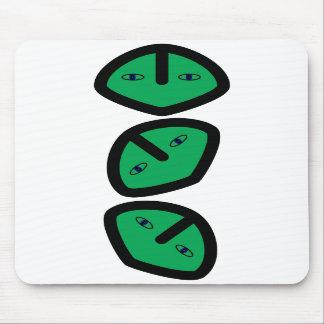 3 Vertical Alien Heads Faces Mousepads