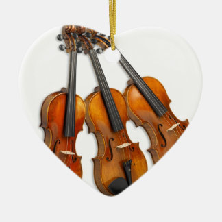 3 VIOLINS CHRISTMAS ORNAMENT