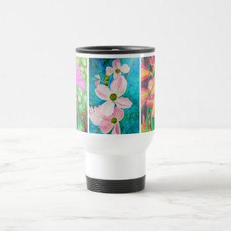 3 Watercolor Flowers Travel Mug