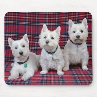 3 Westies Mouse Mat