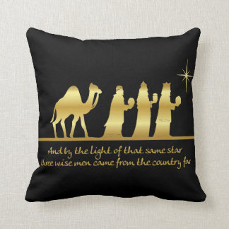 3 Wise Men First Noel Holiday Throw Pillow Cushions