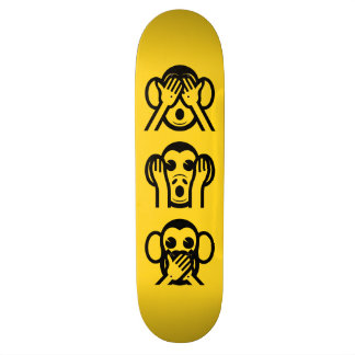 3 Wise Monkeys Emoji 20.6 Cm Skateboard Deck