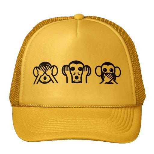 3 Wise Monkeys Emoji Hats