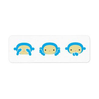 3 Wise Monkeys Return Address Label