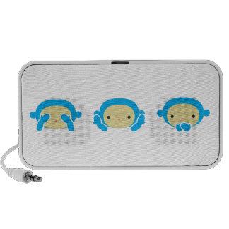 3 Wise Monkeys iPhone Speaker