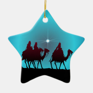 3 WISEMEN & STAR by SHARON SHARPE Christmas Ornament