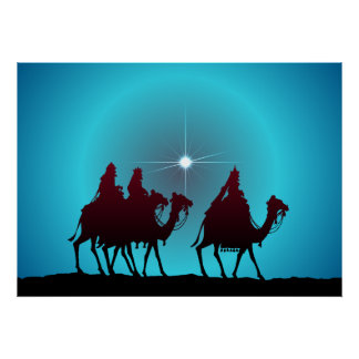 3 WISEMEN & STAR by SHARON SHARPE Poster