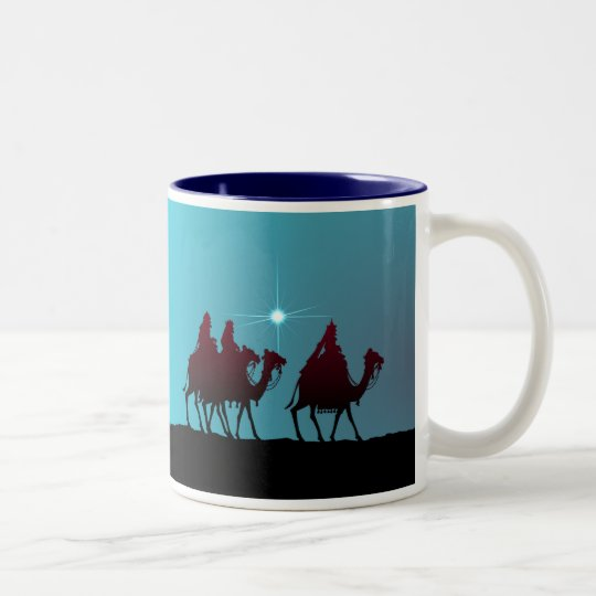 3 WISEMEN & STAR by SHARON SHARPE Two-Tone Coffee Mug