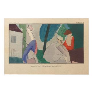 3 women, Parisian fashion, 1914 Wood Canvas