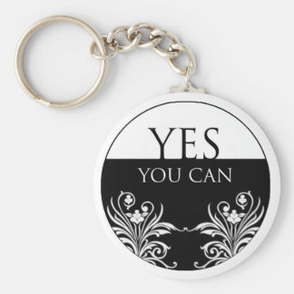 3 word quote-Yes You Can Keychain