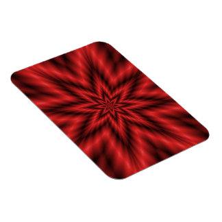 "3""x4"" Photo Magnet   Fuzzy Star in Red"