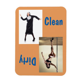 "3"" x 4"" Dancing Nun & Sexy Dancer Clean/Dirty Magnet"