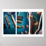 3 x guitars posters