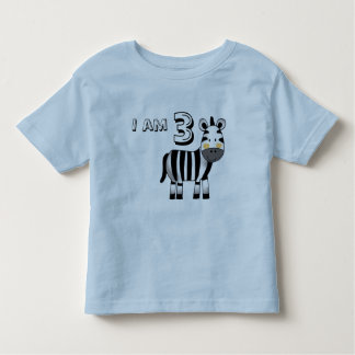3 year old birthday boy/girl gift (zebra) toddler T-Shirt