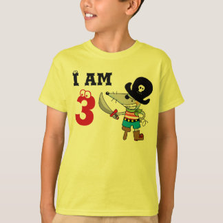 3 year old pirate birthday boy T-Shirt