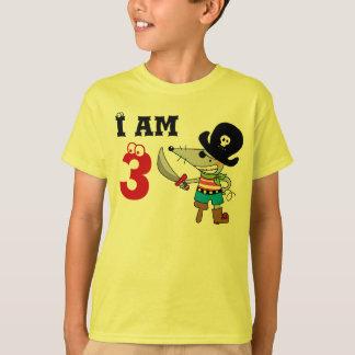3 year old pirate birthday boy t shirt