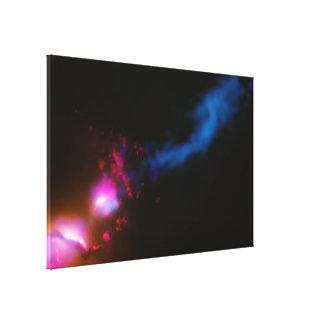 3C 321- Galaxy Fires at Neighboring Galaxy Canvas Print