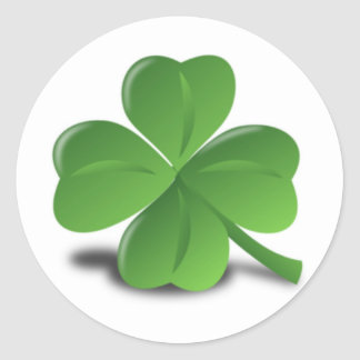 3D 4 Leaf Clover Stickers
