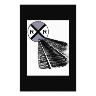 3D Abstract Railroad Flyer Design