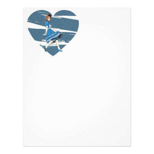 3D Alice & Blue Heart Flyer