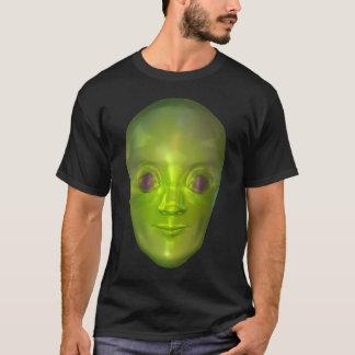 3D Alien Head Extraterrestrial Being Dark T-shirt