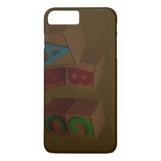 3D Alphabet Blocks iPhone 7 Plus Case