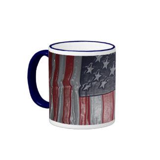 3D American Flag Ringer Mug