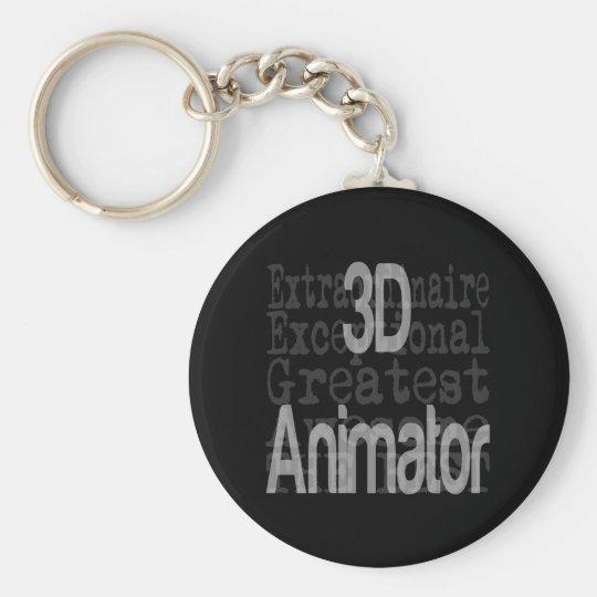 3D Animator Extraordinaire Basic Round Button Key Ring