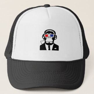 3D Ape Monkey Club Electro Motive Headphones Trucker Hat
