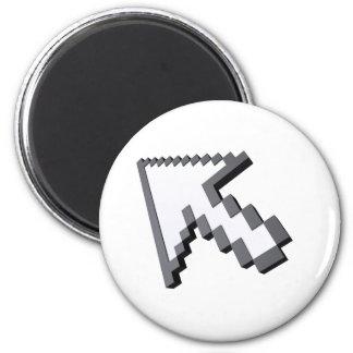 3D arrow 6 Cm Round Magnet