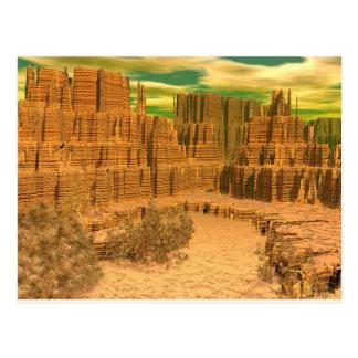 3d art canyon caress postcard