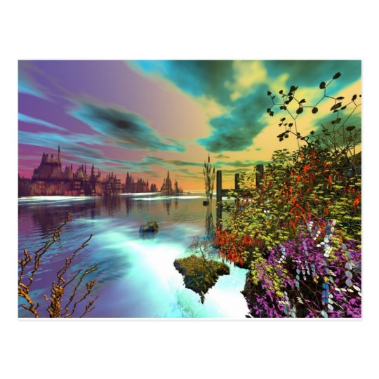 3d art endless summer postcard