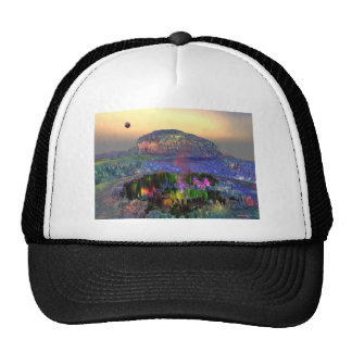 3d art magic crater mesh hats