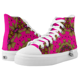 3D Art Mandala Zipz High Top Shoes