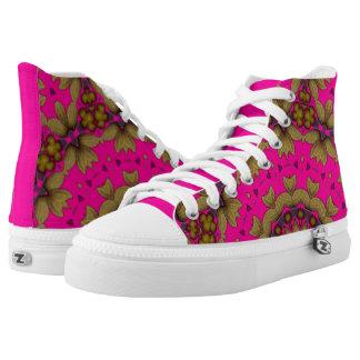 3D Art Mandala Zipz High Top Shoes Printed Shoes