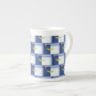3D Azores flag pattern Porcelain Mug