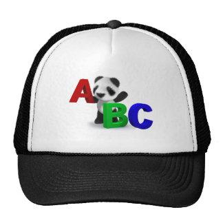 3d Baby Panda ABC Mesh Hats