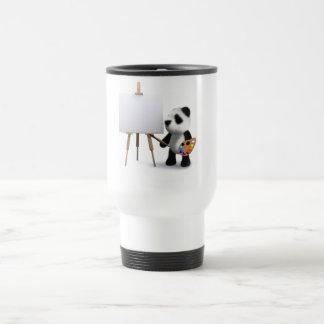 3d Baby Panda Artist Travel Mug