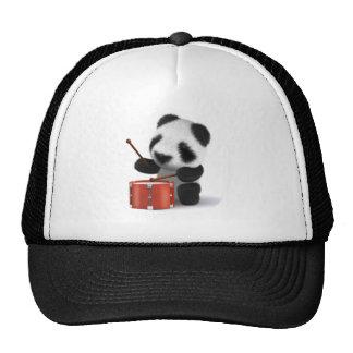 3d Baby Panda Drummer Cap