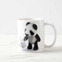 3d Baby Panda Gardening Mugs