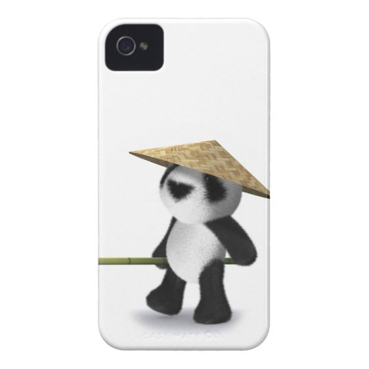 3d Baby Panda Oriental Case-Mate iPhone 4 Case