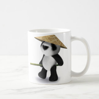 3d Baby Panda Oriental Classic White Coffee Mug