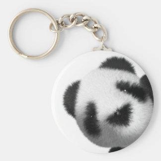 3d Baby Panda Peeps Basic Round Button Key Ring