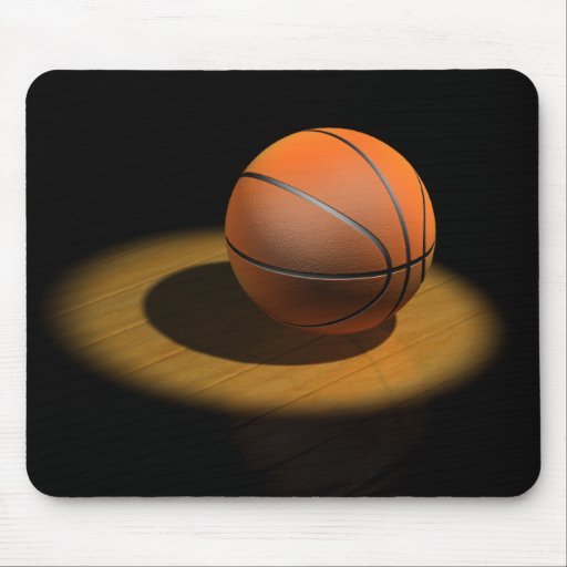 3d Basketball in Spotlight Mouse Pad